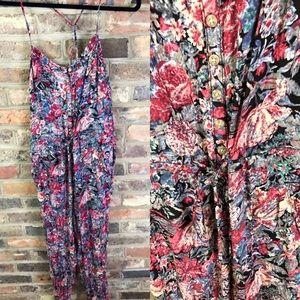 NWOT Free People Floral Jumpsuit